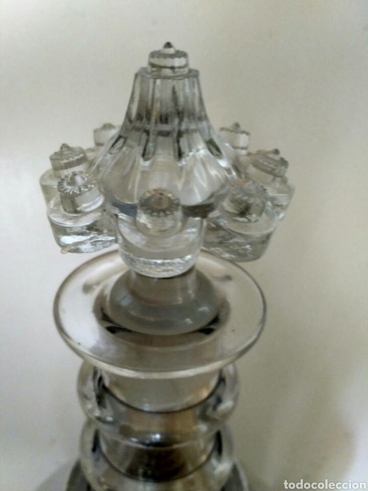 Antigüedades: Redoma, garrafa de cristal de La Granja, periodo Historicista 1883 - pp sg. XX. - Foto 5 - 152181170