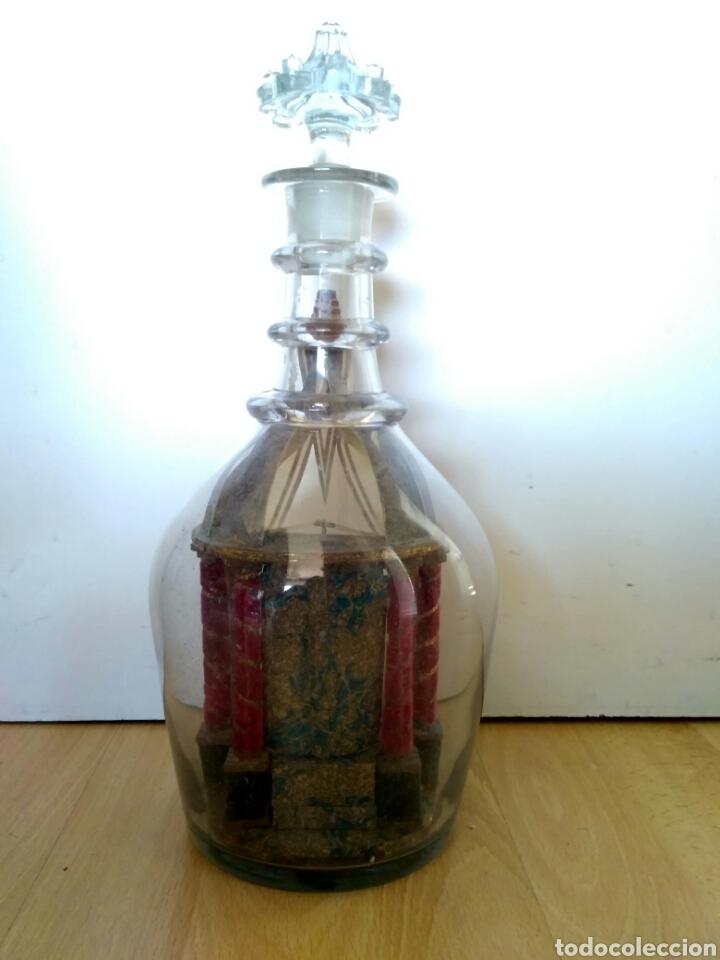 Antigüedades: Redoma, garrafa de cristal de La Granja, periodo Historicista 1883 - pp sg. XX. - Foto 7 - 152181170