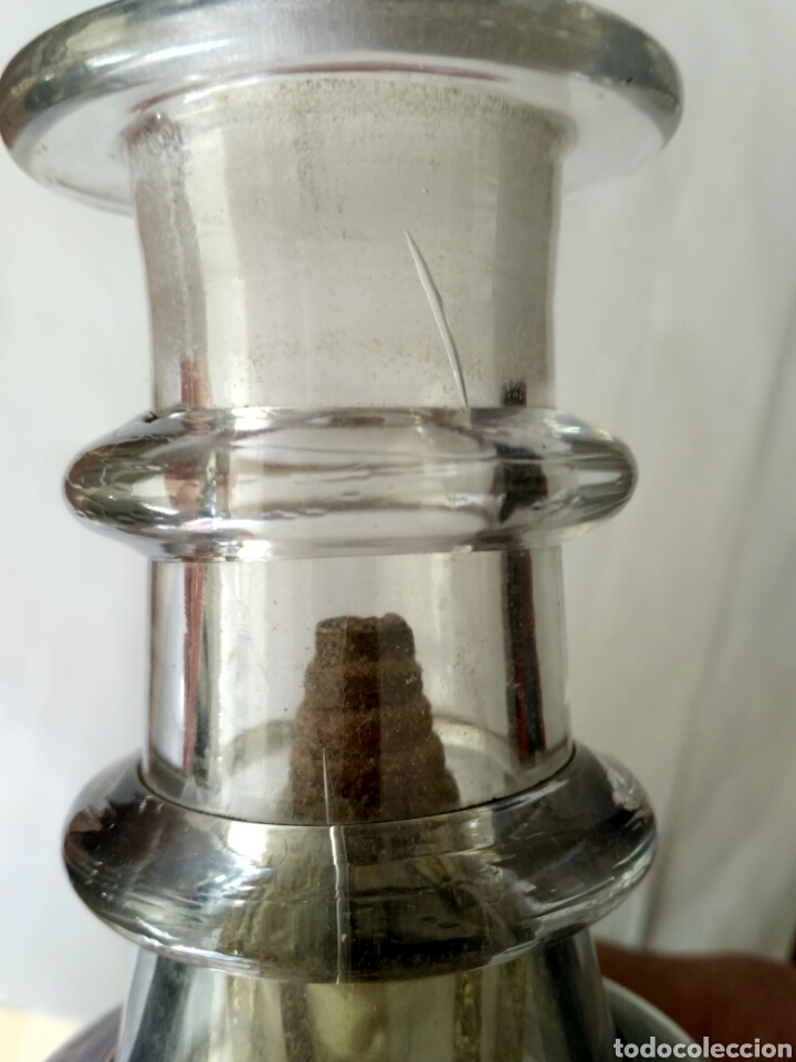 Antigüedades: Redoma, garrafa de cristal de La Granja, periodo Historicista 1883 - pp sg. XX. - Foto 8 - 152181170