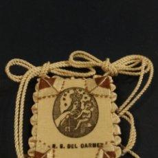 Antigüedades: BONITO ESCAPULARIO DE LA VIRGEN DEL CARMEN MEDIDA 4 X 4 CM. Lote 152184122