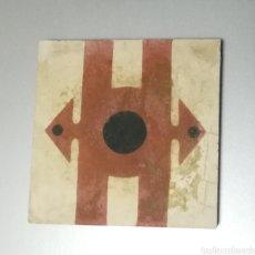 Antigüedades: ANTIGUO AZULEJO HIDRÁULICO O BALDOSA 20 X 20 CM. Lote 152189194