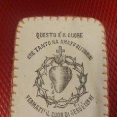 Antigüedades: DETENTE ITALIANO. QUESTO É IL CUORE FERMATI. 5,50 X 4 CM GUERRA CIVIL ???. Lote 152197358