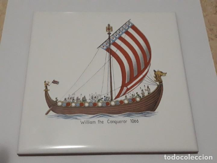 AZULEJO CEDOLESA , WILLIAM THE CONQUEROR (Antigüedades - Porcelanas y Cerámicas - Azulejos)