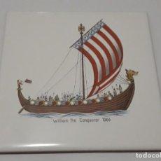 Antigüedades: AZULEJO CEDOLESA , WILLIAM THE CONQUEROR. Lote 152203970