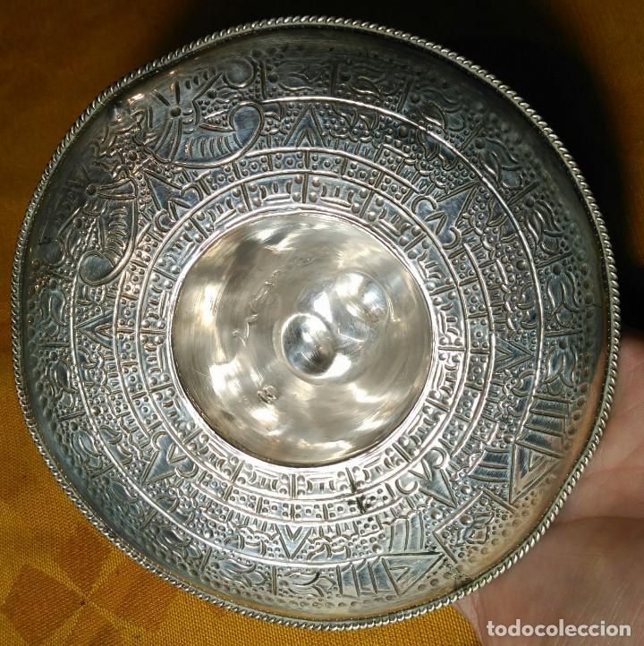 Antigüedades: Sombrero Mejicano de Plata de Ley. Peso 90 gr. 925 ml. Diámetro 15 cm. - Foto 4 - 152208502