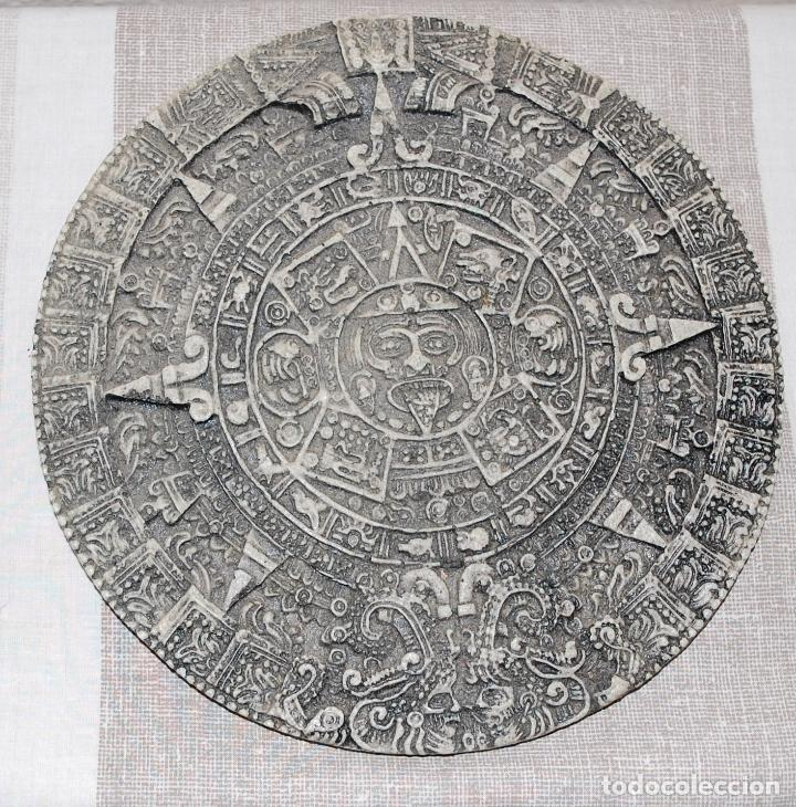 Antigüedades: CALENDARIO AZTECA PARA PARED - Foto 2 - 152218166