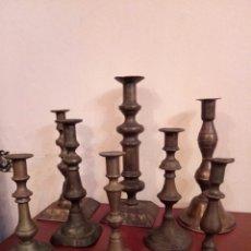 Antigüedades: FINALES XIX, CONJUNTO DE CANDELABROS. Lote 152219885