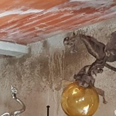 Antigüedades: APLIQUE DE HIERRO FORMA DRAGON. Lote 152221668