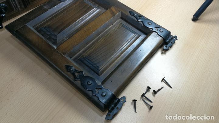 Antigüedades: Cajón, herrajes y puerta de madera para mueble antiguo - Foto 12 - 152230046
