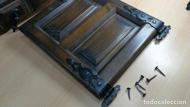 Antigüedades: Cajón, herrajes y puerta de madera para mueble antiguo - Foto 13 - 152230046