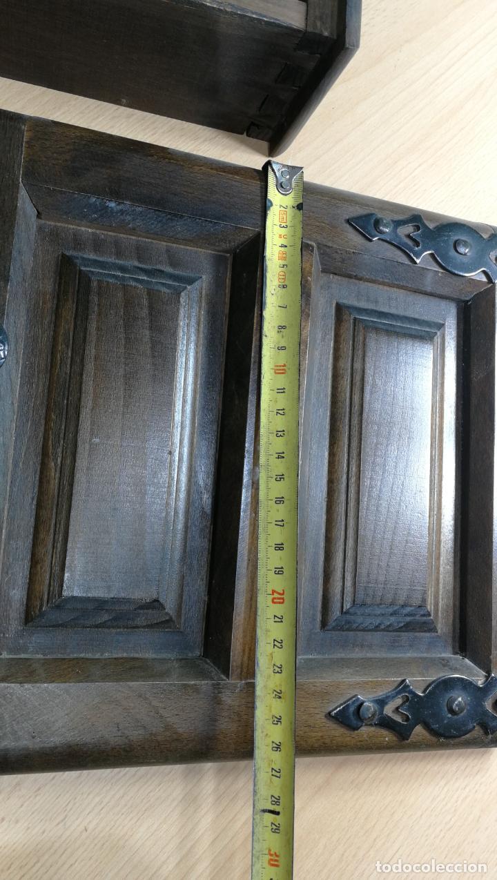 Antigüedades: Cajón, herrajes y puerta de madera para mueble antiguo - Foto 30 - 152230046