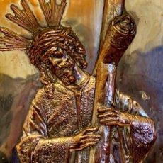 Antigüedades: ANTIGUO RELIEVE DE JESUS CON LA CRUZ. Lote 152236078