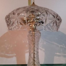 Antigüedades: LAMPARA DE CRISTAL DE BOHEMIA. Lote 152238550