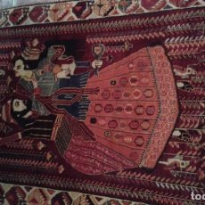 Antigüedades: VERY IMPORTANTHAND KNOTTED IRAN KASKAY RUG - RUG - 185 CM - 108 CM. Lote 152276482