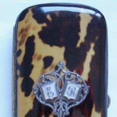 Antigüedades: CARNET DE BAILE DE CAREY SIGLO XIX. Lote 152294674