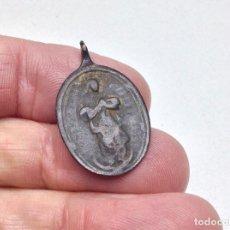 Antigüedades: ANTIGUA MEDALLA RELIGIOSA EN BRONCE SIGLO XVII - XVIII A IDENTIFICAR . Lote 152310822