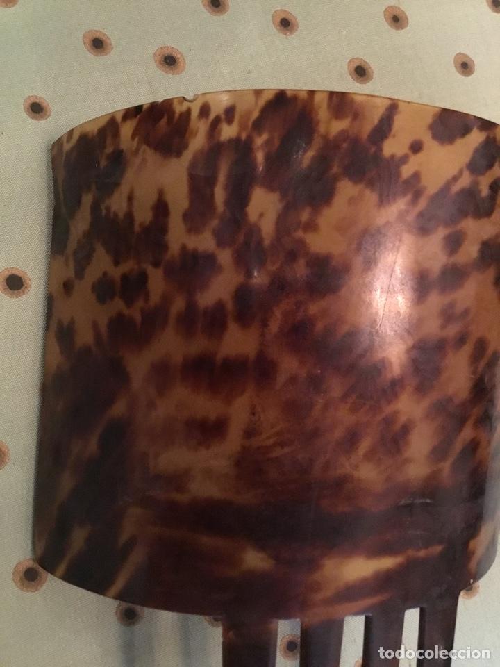 Antigüedades: Peineta de Carey, Teja - Foto 4 - 152324273