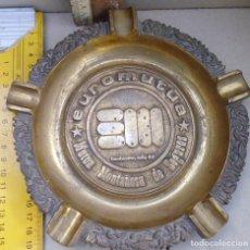 Antigüedades: ANTIGUO Y GRAN CENICERO DE METAL DE 925GRS MIRA LAS FOTOS. Lote 152324646