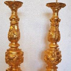 Antigüedades: PAREJA DE HACHEROS DE PLOMO AL MERCURIO. Lote 152337818