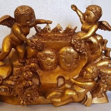 Antigüedades: TALLA DE MADERA PAN DE ORO. Lote 152338686