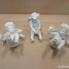 Antigüedades: 3 ANGELITOS BISCUIT,MARCAS EN BASE. Lote 152339090