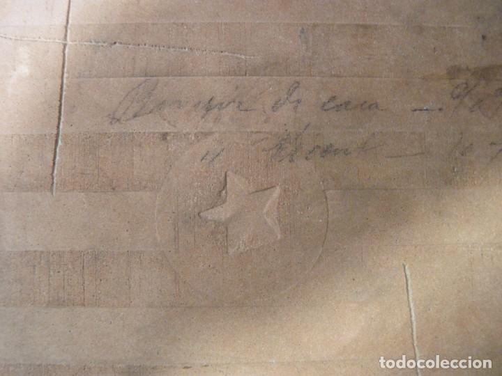 Antigüedades: AZULEJO AJEDREZADO. VERDE MANGANESO Y BLANCO. POSIBLEMENTE ONDA (CASTELLÓN) 20 x 20 cm. SELLO ESTREL - Foto 4 - 152386766