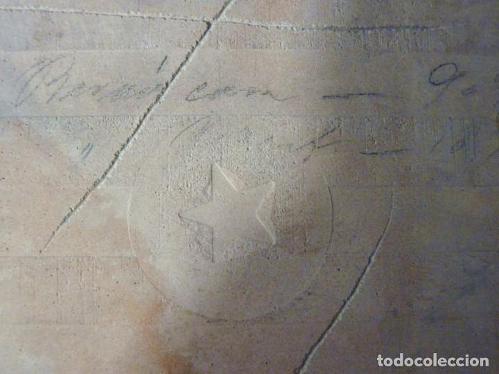 Antigüedades: AZULEJO AJEDREZADO. AZUL COBALTO Y BLANCO. POSIBLEMENTE ONDA (CASTELLÓN) 20 x 20 cm. SELLO ESTRELLA. - Foto 6 - 152386874