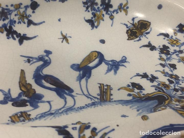 Antigüedades: Bacía de Barbero cerámica de Alcora siglo XVIII Pieza de Museo - Foto 8 - 152404190