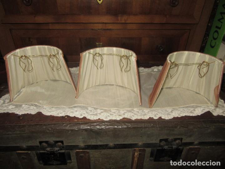 Antigüedades: TRES MEDIAS PANTALLAS PLISADAS. - Foto 2 - 152408474
