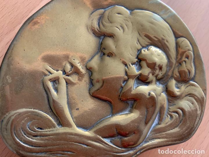 Antigüedades: Cenicero ART DECÓ, Bronce. PRECIOSO!!! - Foto 5 - 152417190