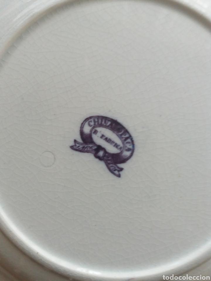 Antigüedades: Plato sopero Sargadelos del S.XIX azul-violeta - Foto 4 - 152419869