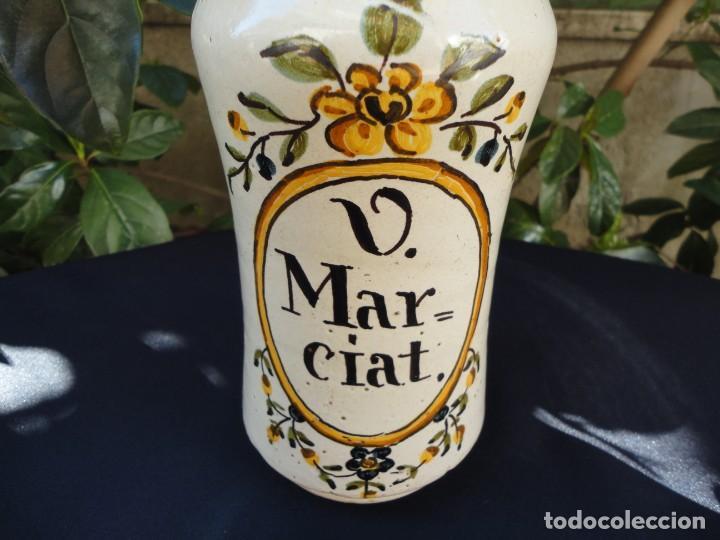Antigüedades: Cerámica decorada catalana: Albarelo de Banyoles - Foto 3 - 152421910