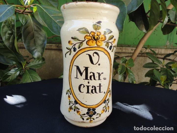 Antigüedades: Cerámica decorada catalana: Albarelo de Banyoles - Foto 6 - 152421910