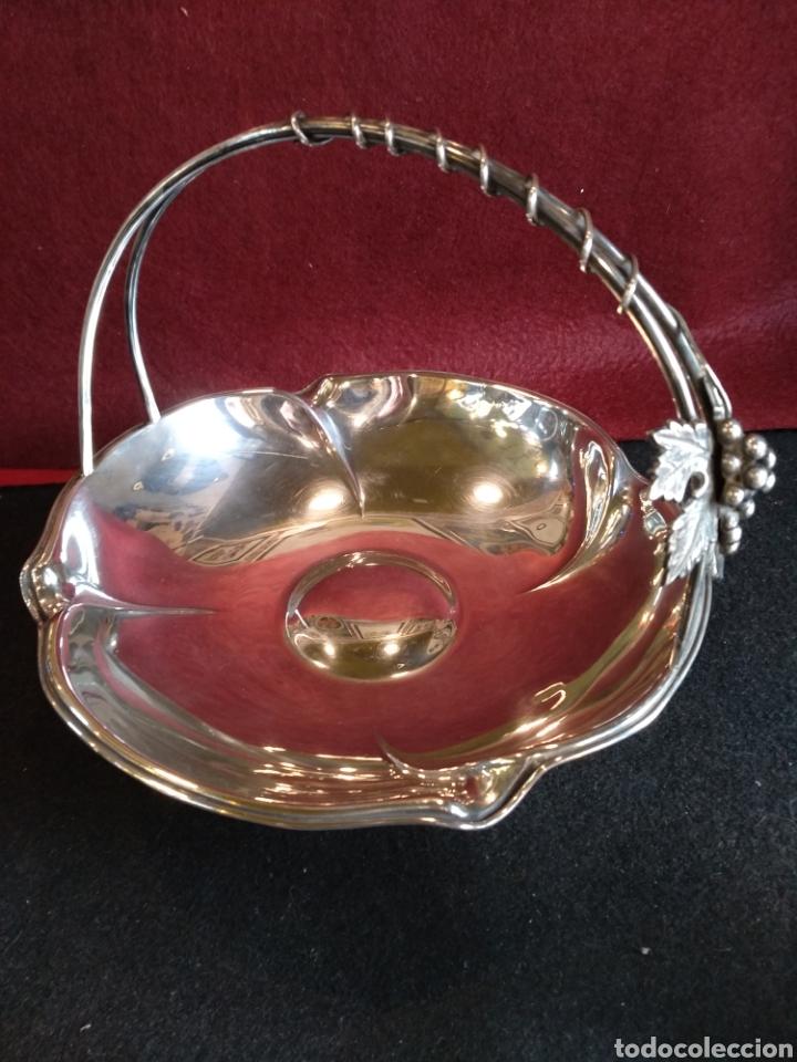 Antigüedades: Frutero / cesta de PLATA 925 con contraste - Foto 2 - 152425426