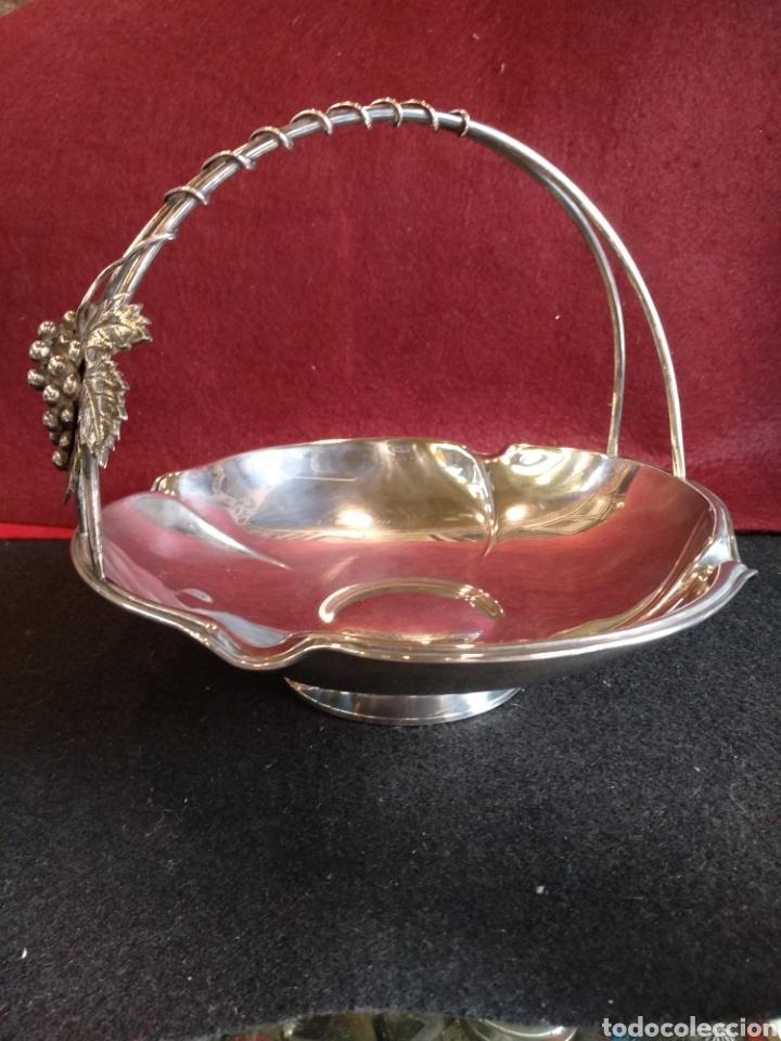 Antigüedades: Frutero / cesta de PLATA 925 con contraste - Foto 4 - 152425426