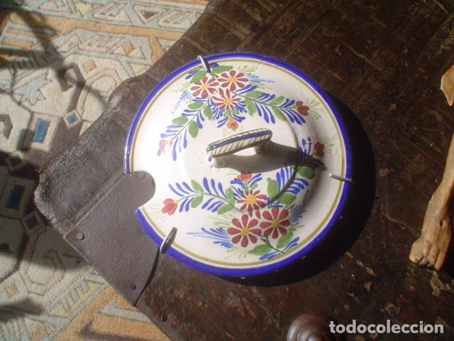 PLATO PARTE ARRIBA DE UNA SOPERA CERAMICA XIX (Antigüedades - Porcelanas y Cerámicas - Otras)