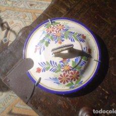 Antigüedades: PLATO PARTE ARRIBA DE UNA SOPERA CERAMICA XIX. Lote 152432098