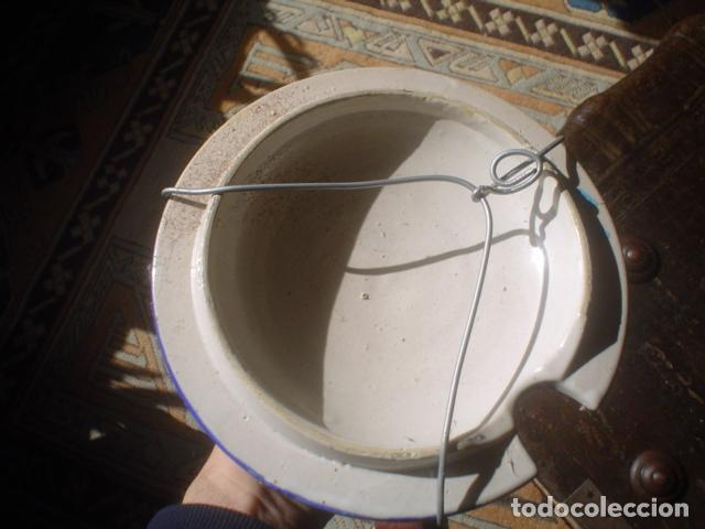 Antigüedades: plato parte arriba de una sopera ceramica xix - Foto 2 - 152432098