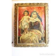 Antigüedades: ANTIGUO ÓLEO RELIGIOSO DEL AÑO 1894. Lote 152450002