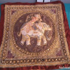 Antigüedades: TAPÍZ ORIENTAL ELEFANTE. Lote 152451154