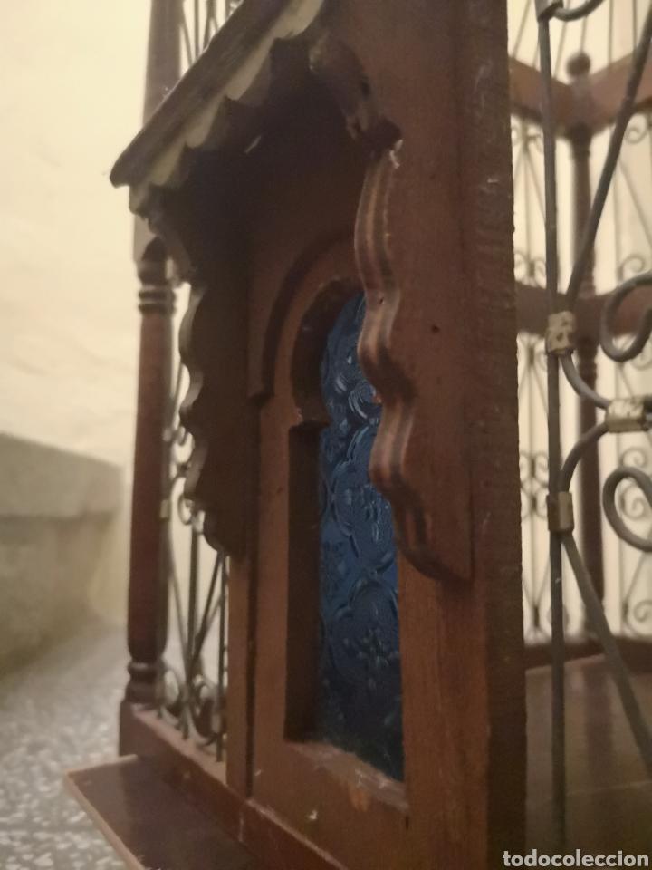 Antigüedades: JAULA ALAMBRE Y MADERA - Foto 6 - 152454194