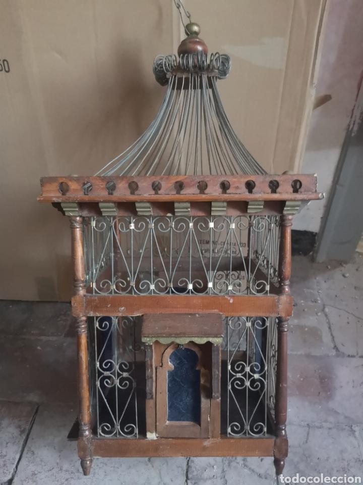 Antigüedades: JAULA ALAMBRE Y MADERA - Foto 16 - 152454194