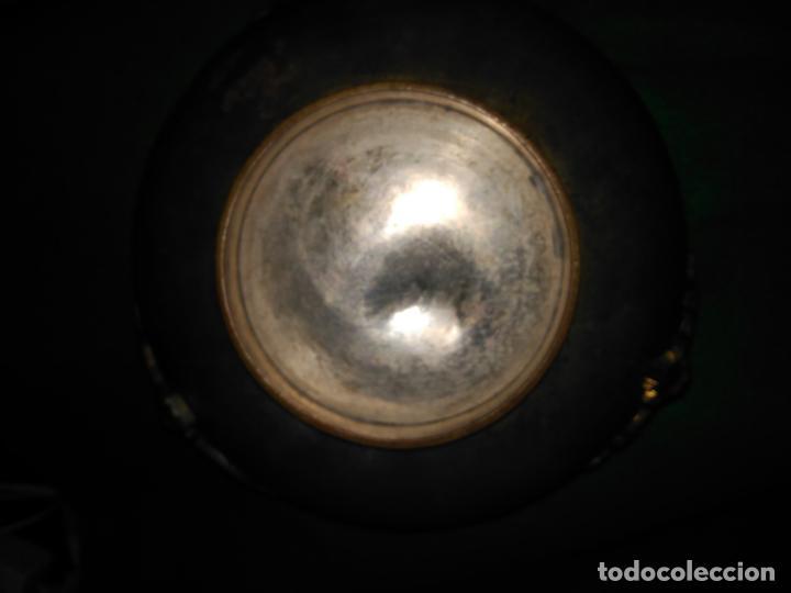 Antigüedades: ANTIGUO CUENCO INCENSARIO PEBETERO CENTRO S. XVII-XVIII BRONCE BASE PLATA 3 CARAS DAMA BRONCE 35,0 - Foto 12 - 152455330
