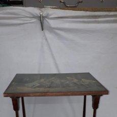 Antigüedades: MESITA AUXILIAR INGLESA DE JUEGO, O ESTUDIO NIÑO SIGLO XIX. Lote 152456762