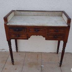 Antigüedades: CONSOLA DE CAOBA PARA RESTAURAR. Lote 152477168