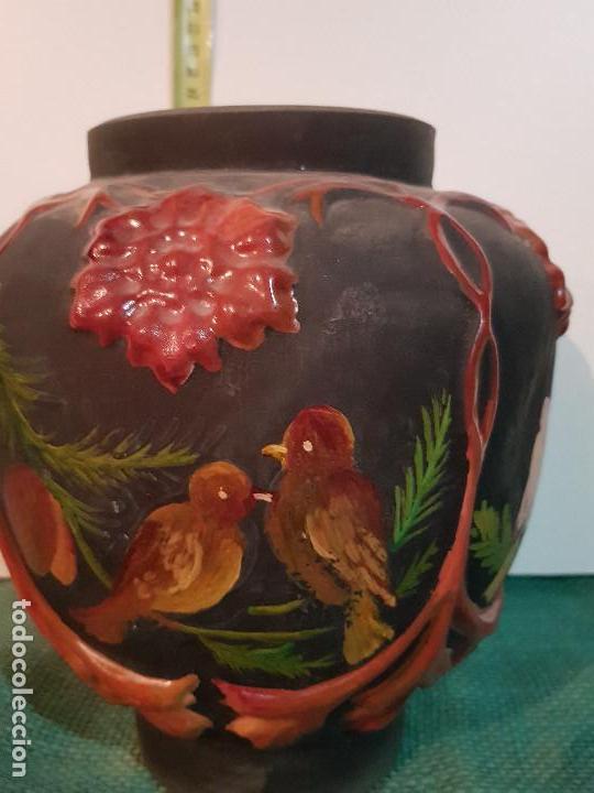 Antigüedades: JARRON, BUCARO VIDRIO SOPLADO - Foto 4 - 152478506