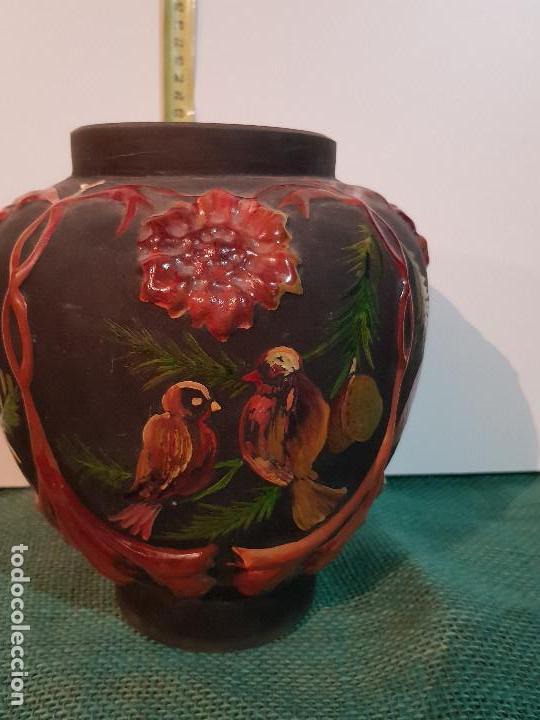 JARRON, BUCARO VIDRIO SOPLADO (Antigüedades - Cristal y Vidrio - Otros)