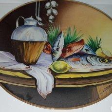 Antigüedades: PLATO DE DECORACION PINTADO. Lote 152486682