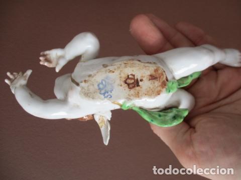 Antigüedades: OJO.. Figura Porcelana- ¿ Algora ?- Angel - Angelito - EN LA BASE - SELLOS REALES DE CORONA - Foto 5 - 152490838