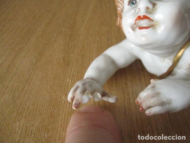 Antigüedades: OJO.. Figura Porcelana- ¿ Algora ?- Angel - Angelito - EN LA BASE - SELLOS REALES DE CORONA - Foto 13 - 152490838